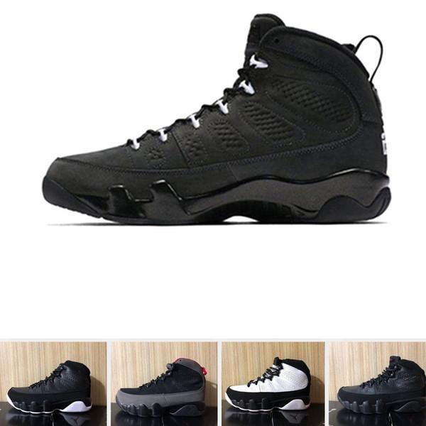 Nike Air jordan 9 chaussures de basket-ball Concord université noire et noire Université rouge 9s UNC Bred Sports Sneakers bateau gratuit