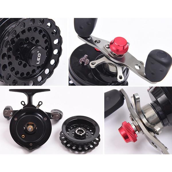 -leo dws60 4 + 1bb 2.6:1 65mm fly fishing reel wheel with high foot fishing reels left hand fishing reel wheels thumbnail