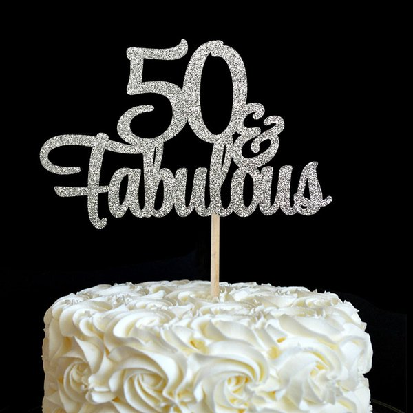 Super 2020 50 Fabulous Cake Topper 50Th Birthday Party Decorations Funny Birthday Cards Online Overcheapnameinfo