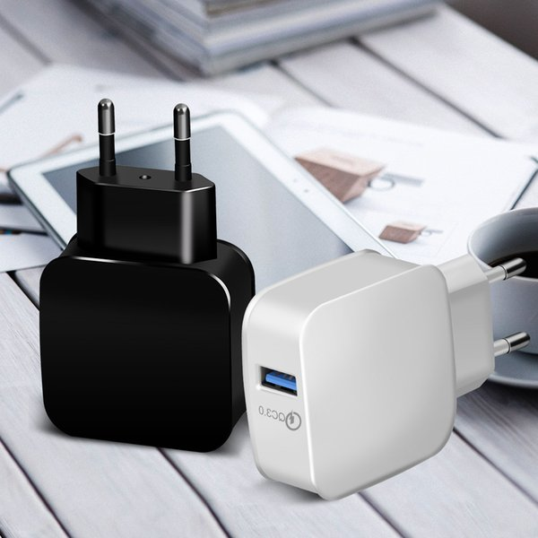 QC3.0 USB Wall Charger Quick Charge Charging Travel Power Adapter Home US EU Dock for IPhone XS MAX Samsung S10 Huawei