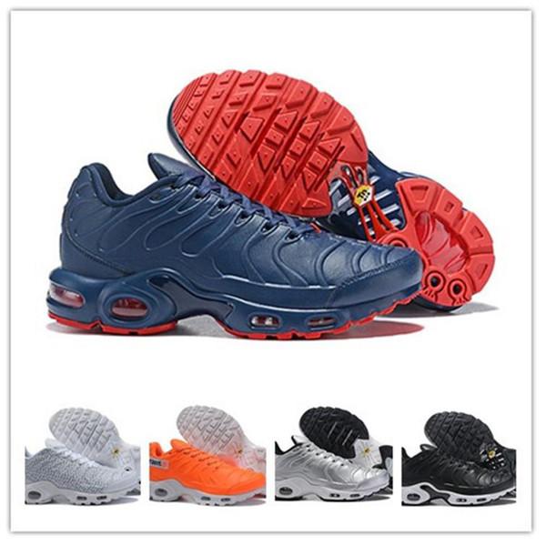 Hommes en gros Tn Se formateurs chaussures de course Sneakers 2019 Tns Triple Rouge Tartan Avant Après NYC Hommes Chaussures Chaussures De Sport