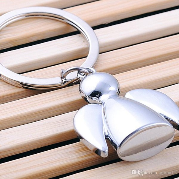 Fashion eisi key chains alloy Stereo angel keychain high quality key rings for women men promotion gift Fashion Accessories 2016 240202
