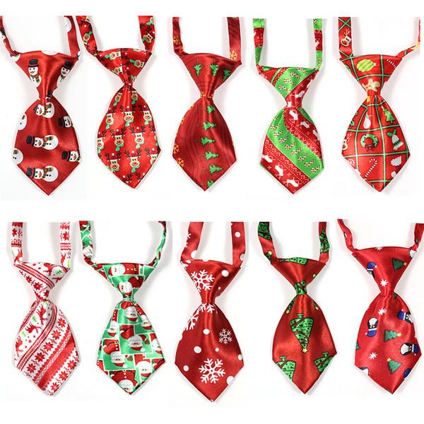 Fontes do animal de Estimação do natal Cão de Estimação Gato Xmas Gravatas Bowties Santa Deer Dog Vestuário Grooming Acessórios Pequenos-Meio Laços 100 pcs