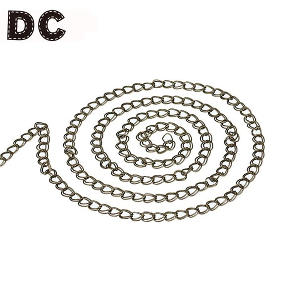 DC 5Meter/lot Antique Bronze Bulk Metal Iron Link Curb Chains Double Ring 7*8mm for Necklace Bracelet DIY Jewelry Making Finding