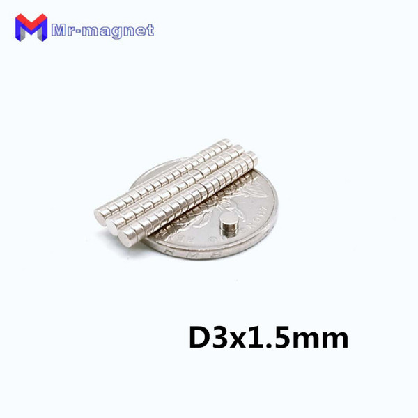 2019 imanes Real New 2019 100pcs Neodymium Magnet Industry N35 3*1.5 Fridge Magnets Mini Round Permanent Rare Earth Ndfeb D3x1.5 3x1.5 Mm