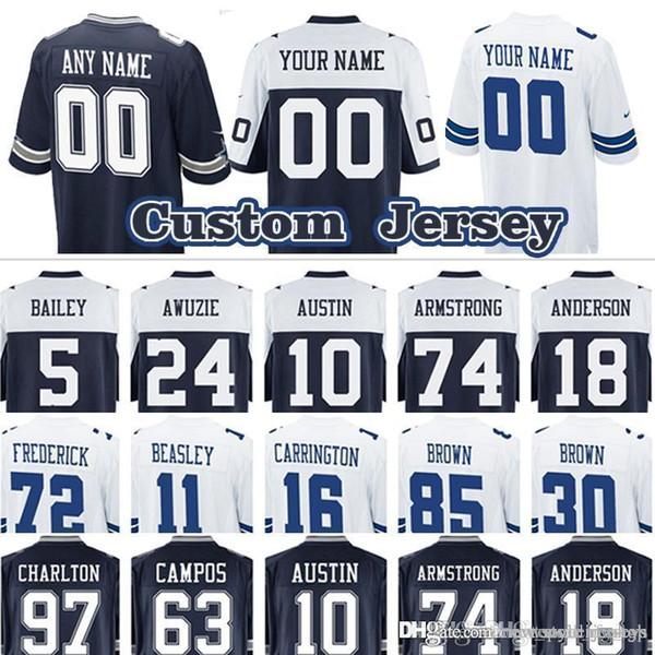 quality design 34a94 5d424 2019 Custom Game Cowboys Dallas Cowboys Jersey 88 Dez Bryant 18 Dres  Anderson 74 Dorance Armstrong 10 Tavon Austin 5 Dan Bailey From ...