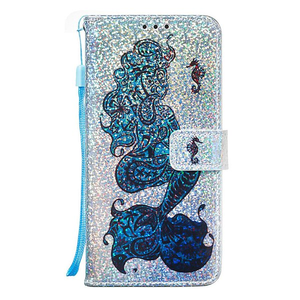 Shining Case Skin For LG Aristo 2 Plus/K8 LV3 2018 Stylo 4 Q stylus Shell PU Leather Stand Wallet with Rope Card Slots Protective Cover