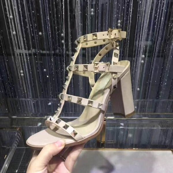 2019 Nuevas señoras de verano sandalias de gladiador sandalias de diseño de moda l diseñador damas sandalias tamaño 34-41