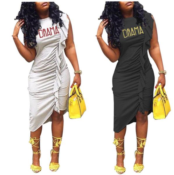 Vestidos de uma peça das mulheres Chegada Nova elegante roupas de verão midi vestidos Assimétrica Midi-bezerro manga curta ruched plissado Plus Size 158