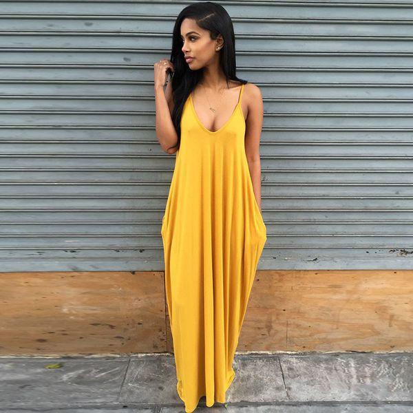 2019 Solid Bikini Cover Up Beach Dress Mujeres Sexy Dress High Stretch Tank Robe Spring Summer Thin Long Dress Y19071801