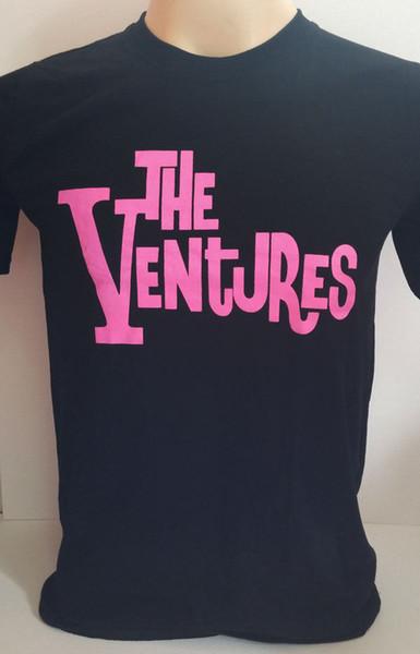 The Ventures surf rock band Walk Don't Run handmade screen black t shirt size S
