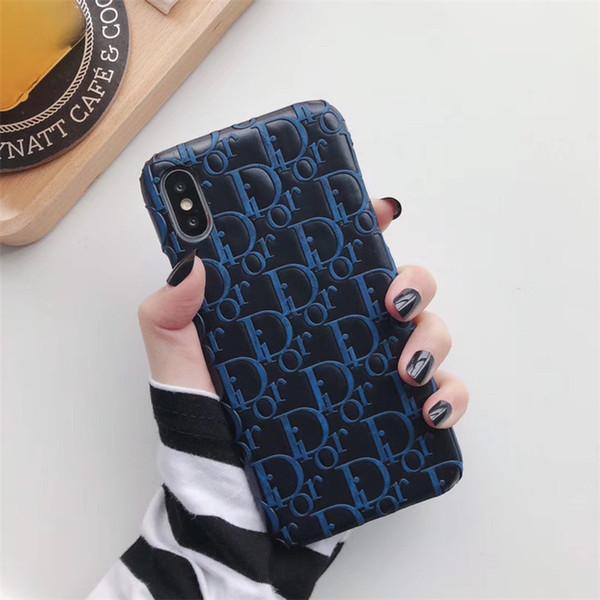 Оптовая Роскошный чехол для телефона для iPhone 6S 7 8 P X XS мода логотип отпечаток новый дизайнер телефон задняя крышка для подарков