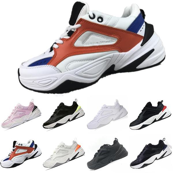 Alta calidad Nike M2K Tekno Medio Azul Blanco Negro Hombre