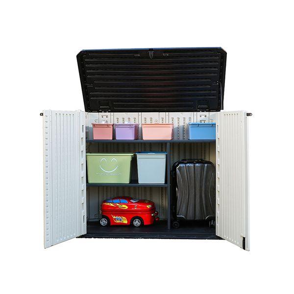 Acheter Kinying Marque Nouveau Design Europe Style Balcon Cabinet Beige étanche Armoires D Extérieur En Plastique Boîtes De Rangement En Plastique