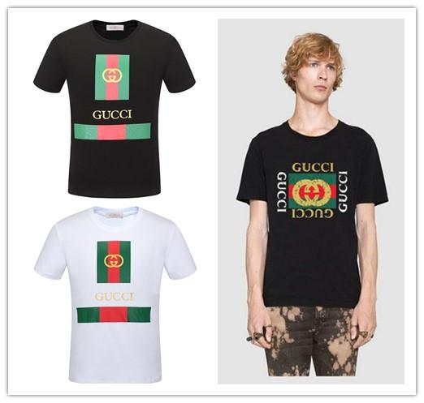 2019 g Shirt Men New Solid color T Shirt Mens Black And White cotton T-shirts Summer runway Tee designer Tshirt Tops Giorgio