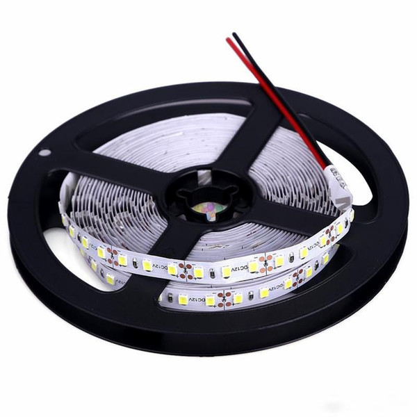 High Brightness 5M 600led SMD 2835 LED Strip Non waterproof DC 12V Diode Tape 120led/m Super Brighter than 3528 Flexible Light