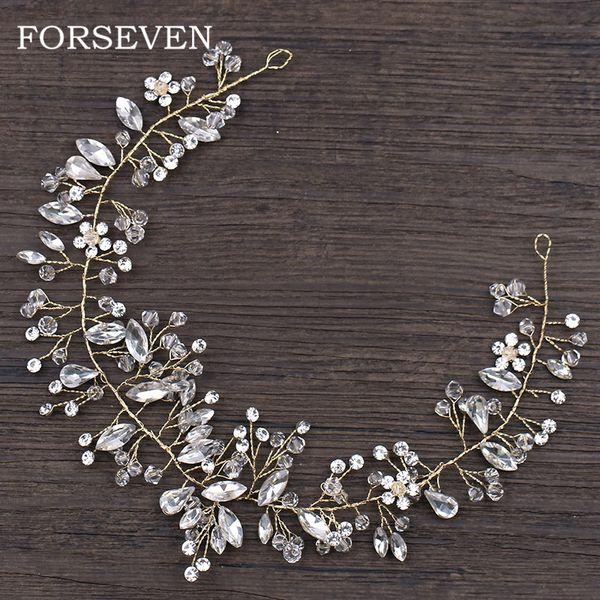 golden headband for women wedding crystal headband hair accessories bride hairbands wedding hair ornaments headdpieces