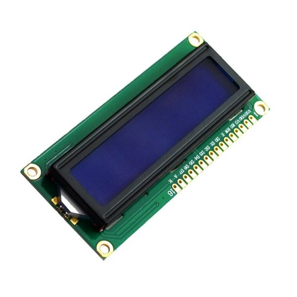 HLZS-NEW DC 5V HD44780 1602 LCD Display Module 16x2 Character LCM Blue Backlight