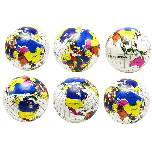 6pcs Inflatable Toys Globe Ball Funny Water Fun Play Summer Beach Ball Party Favor Pool Balls for Children Kids Toddler