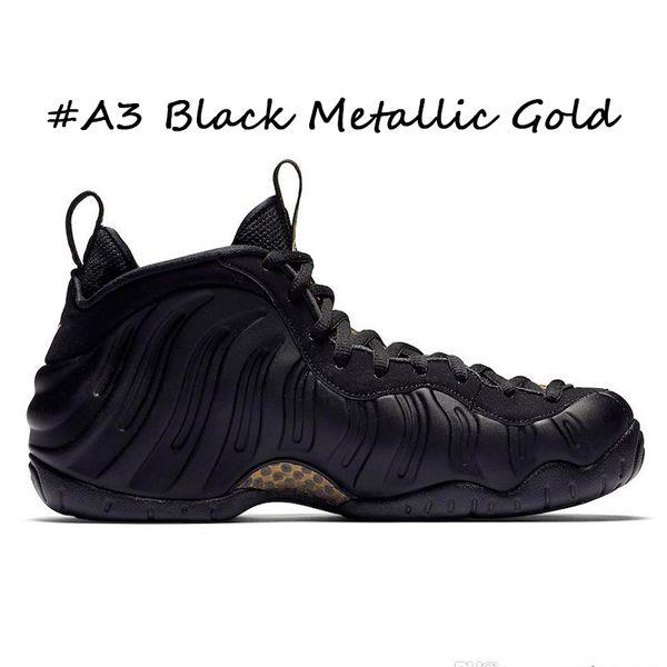 #A3 Black Metallic Gold