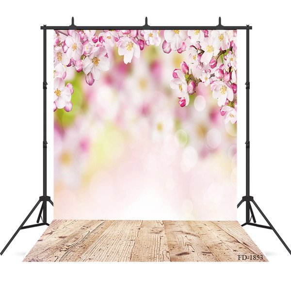 flower photography background wooden floor backdrops portrait for photograph accessories child baby shower backdrop photo studio