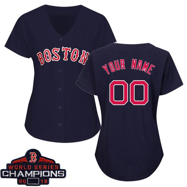 finest selection 3c4c4 49fad 2019 Womens Mookie Betts Jersey Custom Red Sox 2018 World ...