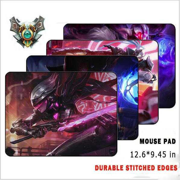 New Mouse Pad/Mat Non-slip Rubber Base Middle 12.6*9.45 Inches Stitched Edges LOL Mouse Pad For PC , Laptop & Computer