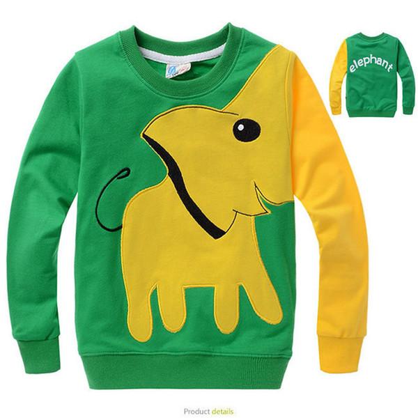 Boy T Shirt Spring Autumn Cartoon Kids Boys Long-Sleeved Tee Shirt Brand Elephant Print Child T Shirt for Boys Tops Tee Clothes