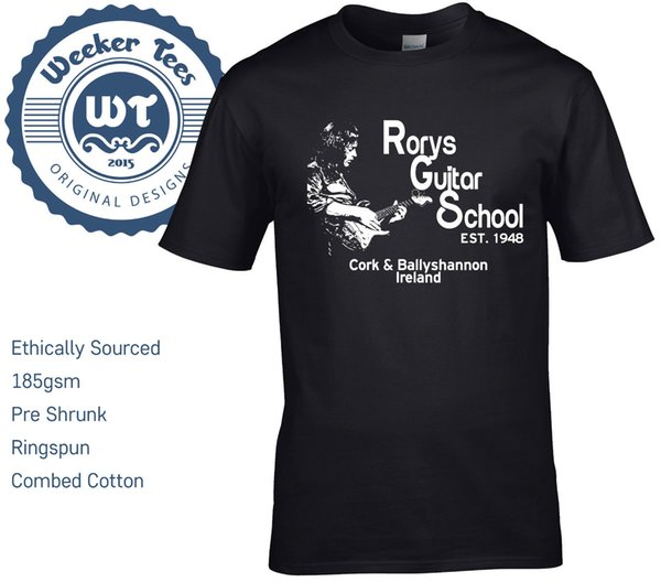 Nouveau T-shirt Tribute Rory Gallagher, école de guitare Rorys - taille S - t-shirt à env.