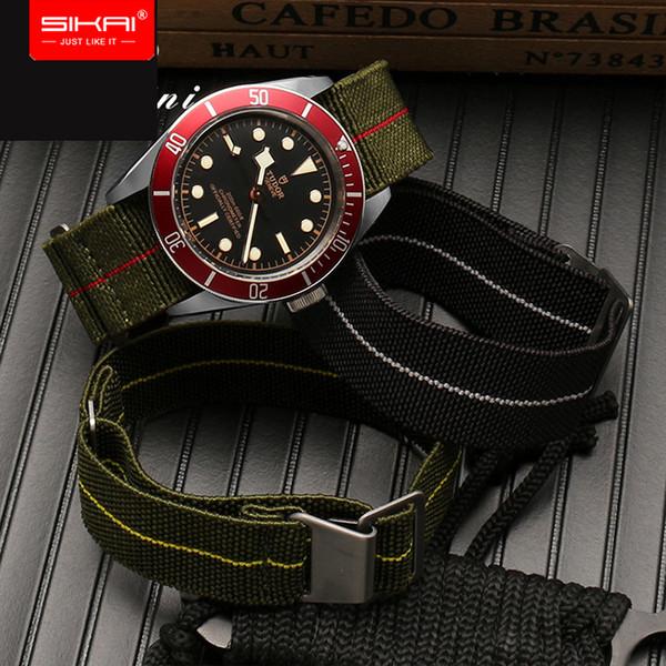 SIKAI Neues 20mm Nylon-Uhrenarmband Für Ticwatch E-Band-Armband Für huami amazfit Jugend Bip Uhr 21mm 22mm nato elastisch