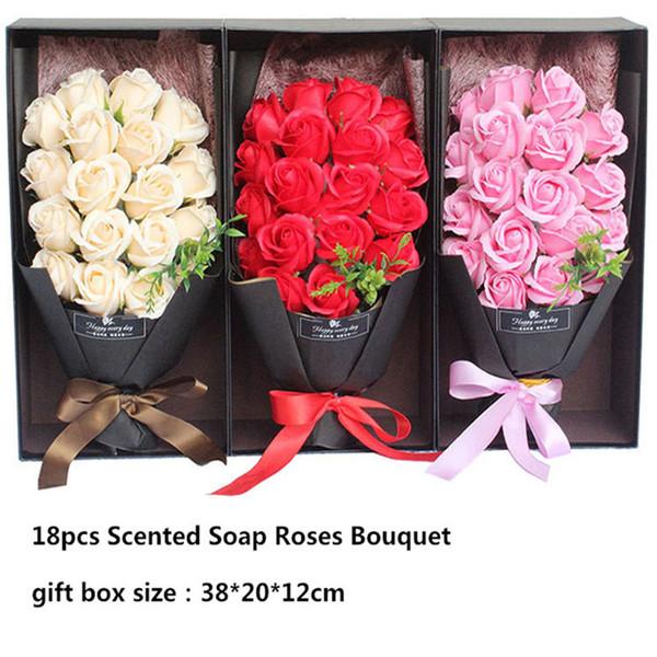 Acheter Roses Artificielles Fleur Creative Savon Parfumé Fleurs Simulation Rose Bouquet Pour La Saint Valentin Cadeau D Anniversaire Décor De 21 36