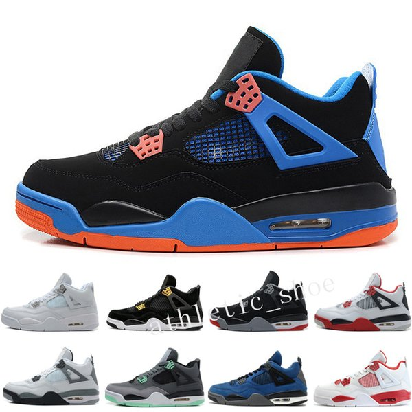 4 4s Mens Basketball Shoes Royalty Toro Bravo Angry bull Military Blue Alternate 89 Green Glow Dunk From Above Premium Black Sports Sneakers
