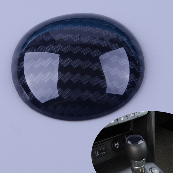 wholesale Carbon Fiber Style Gear Shift Lever Knob Head Decoration Cover Trim fit for Hyundai Kona Encino 2018 Styling Accessories
