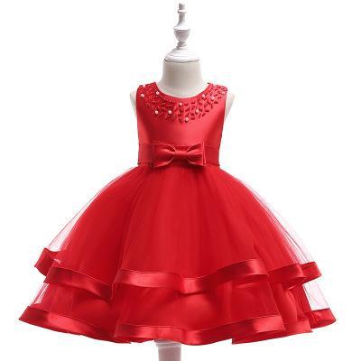 2019Children vestiti bambino nuovo abito principessa in rilievo fatto a mano 2-10 anni ragazza di asilo costumi multi-colore vestito cotone ragazze abiti