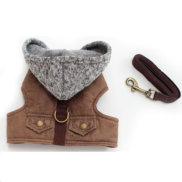NEW Dog Pet Harness Outdoor Walking Pet Lead Jeans Vest Harness For Small Puppy Dogs Leash Dring Teddy Poddle 3 Size XS S M