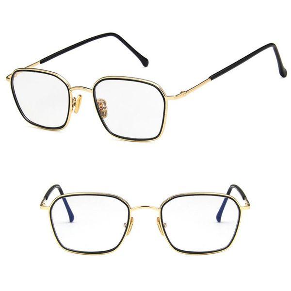 New Design Optical Glasses Square Metal Frame Clear Lens Transparent Universal Unisex Fashion Eyeglasses Eyewear Optic