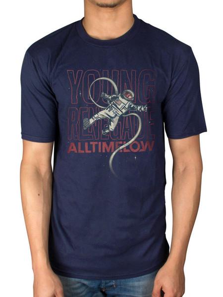 T-Shirt ufficiale All Time Low Renegade Caro Maria Count Me In Dirty Laundry Uomo Donna Unisex Fashion tshirt Spedizione gratuita nero