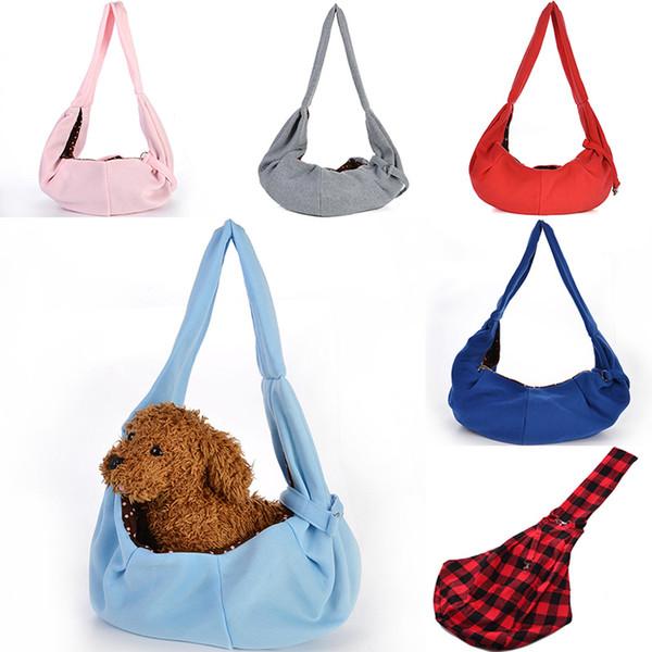 Portador de perro Bolsa de viaje para mascotas Bolsas de hombro Perrera para perros pequeños Perros Mochila de perrito suave y acogedora Bolsas de eslinga Accesorios para perros para mascotas DHL WX9-1371