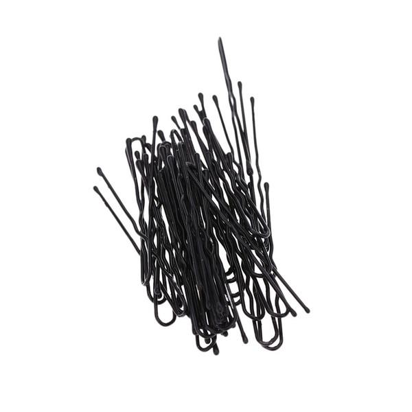 50 pcs Fino Em Forma de U Grampo De Cabelo Grampos De Metal Preto Ferramentas e Acessórios Para o Cabelo H13524