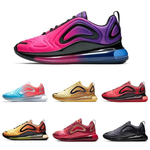 Compre Nike Air Max 720 Vapormax Airmax Metallic Platinum KPU Zapatos Hombres Mujeres Sea Forest Sunset Triple Black Sunrise Zapatillas De Deporte