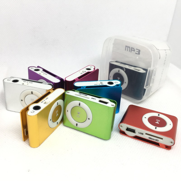 Mini Clip MP3 Music Players 8 colors Portable Sport Style MP3 Player With Earphone and USB Cable Retail Box