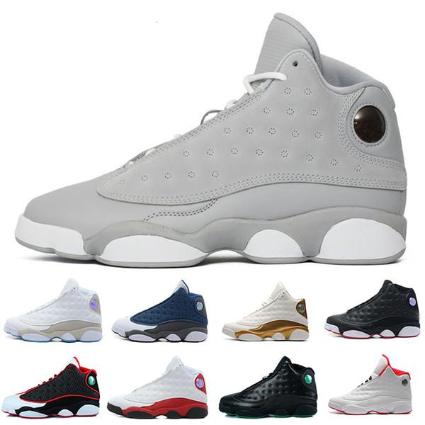 Neue 13 Schuh Olive Schwarz Herren-Basketballschuhe Designer Hyper Royal Blue 13s Männer Sport der Frauen im Freien Turnschuhe Eur 36-47