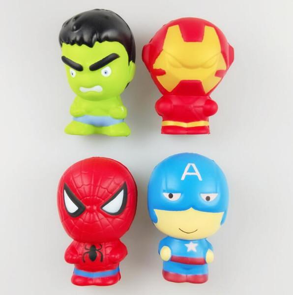 Squishy Cartoon Character Squishy Phone Pendant Slow Rising Captain America Hulk Spiderman Iron Man squishies DHL Free Shipping