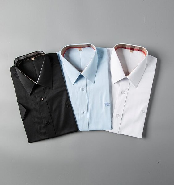Camisa a cuadros de auto-cultivo de negocios estadounidenses de 2019, diseñador de moda, camisa casual de algodón de manga larga, camisa a rayas vestido # 9685