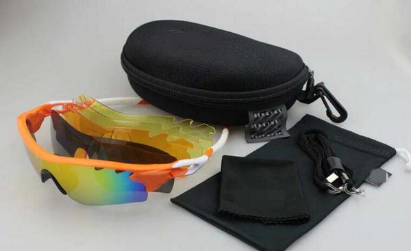 Uomo Donna 5 lenti UV400 9181 Occhiali da ciclismo Occhiali da bicicletta Sport Occhiali da mountain bike Occhiali da esterno