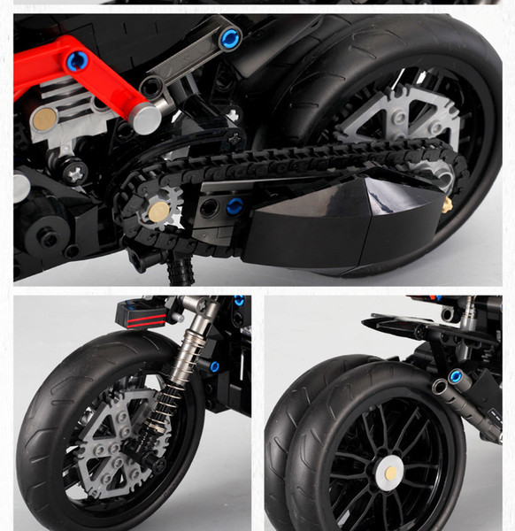 Ducati motorcycle assembly model boy puzzle collage toys