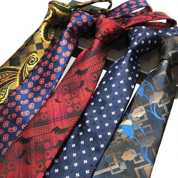 Paisley Jacquard Mens collo cravatta 8cm poliestere cravatta cravatta tipo cravatta per uomo vestito da sposa Business Party
