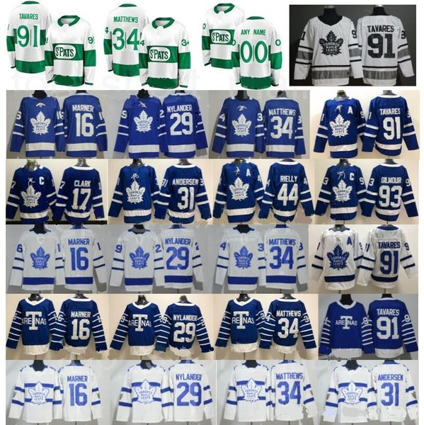 Toronto Maple Leafs Dia de São Patrício Pattys Day Auston Matthews Jersey John Tavares Hóquei Mitchell Marner William Nylander Centenário Clássico