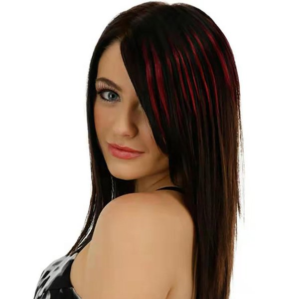 top popular Hair Piece Bangs Fashion Full Length Synthetic Clip in Side Synthetic Hairpiece Fringe Hair Extensions 9 Color For Choose 2019