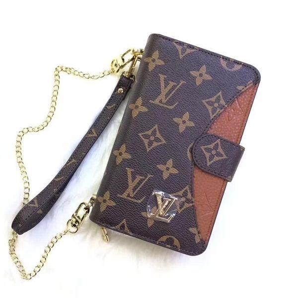 Moda top de luxo telefone case bolsa de ombro universal case para iphone xs max samsung s10 huawei mate20 lg telefone case designer tampa do telefone